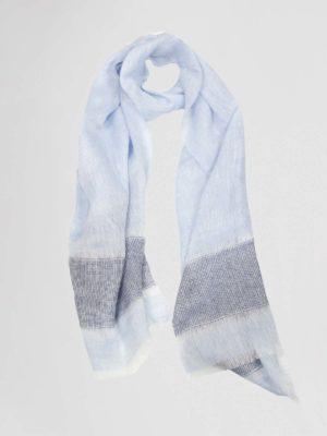 amina rubinacci shawl jeansblauw