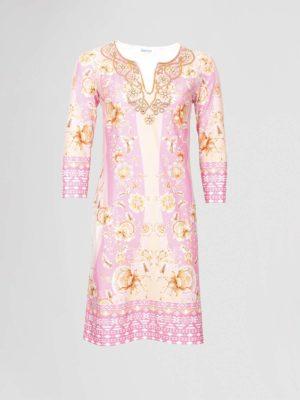 leeser jurk roze
