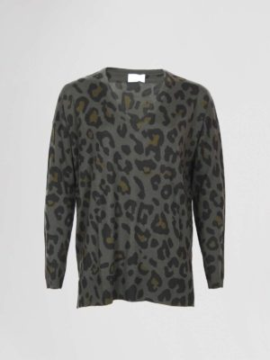 Allude Pullover Leopard Groen