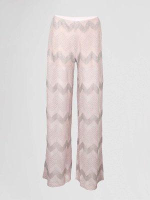 Missoni Pantalon Wijd Roze